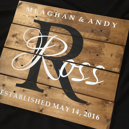 Family Name Wooden Pallet Sign