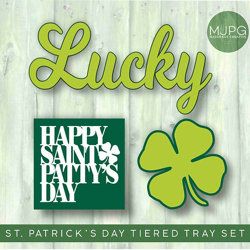 St. Patrick's Tiered Tray signs | DIY kits