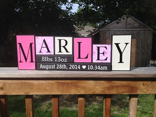Personalized Baby Name Block Set