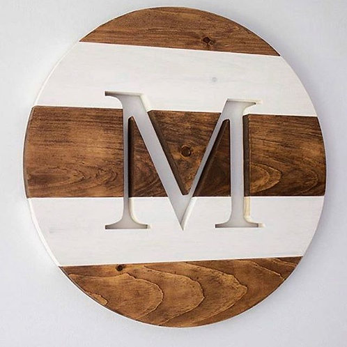 Monogram Cut-out Wood Sign