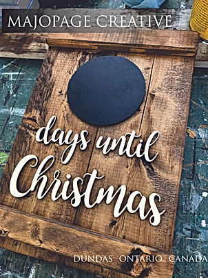 Days Until Christmas sign stained only.j