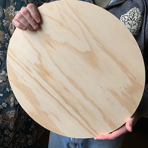 """Unfinished 3/4"""" thick Birch Wood Circle Blanks"""