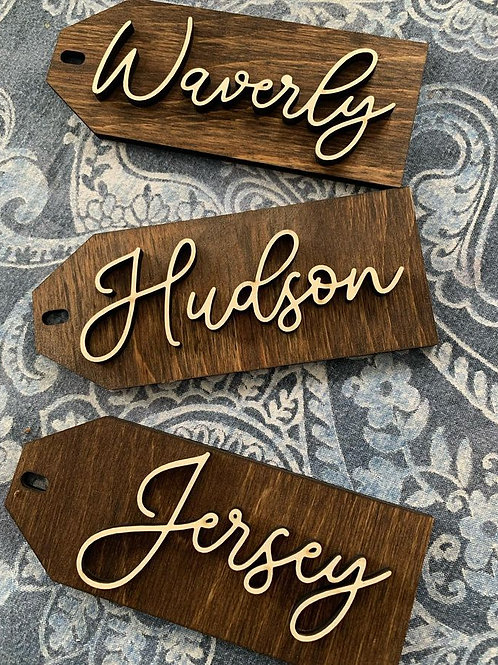 Personalized 3D Gift Tag