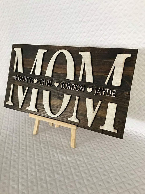 MOM personalized sign