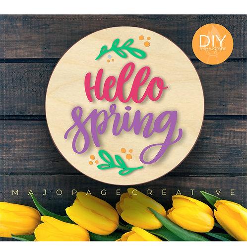 DIY Hello Spring Sign Making Kit | Workshop Feb 28