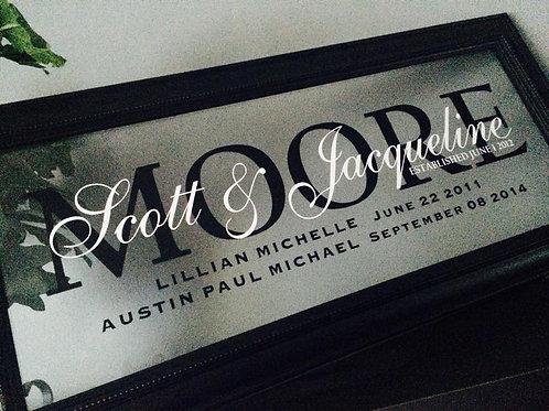 Wedding / Anniversary Custom  Floating Frame
