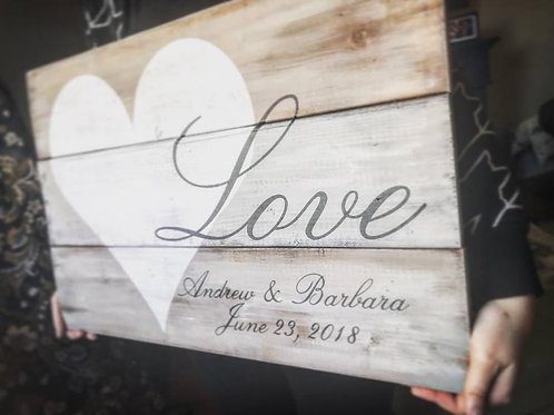 Personalized LOVE Pallet Sign
