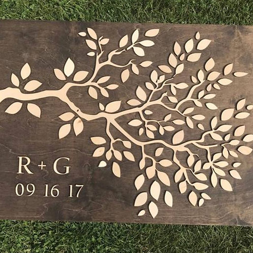 Tree Branch Wedding Event Signature board