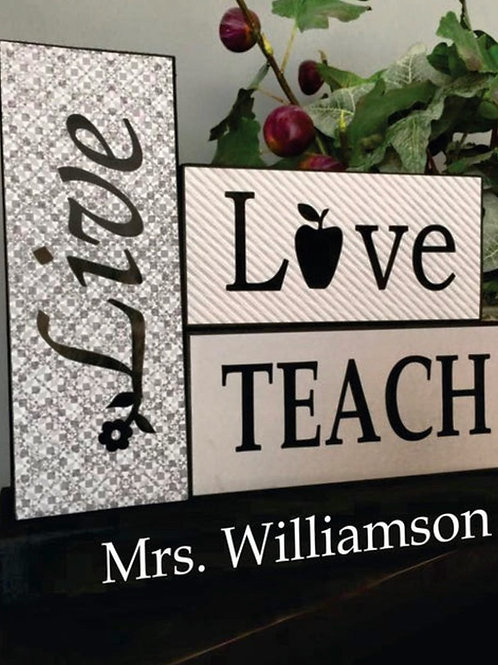 Teacher Wood Block Set
