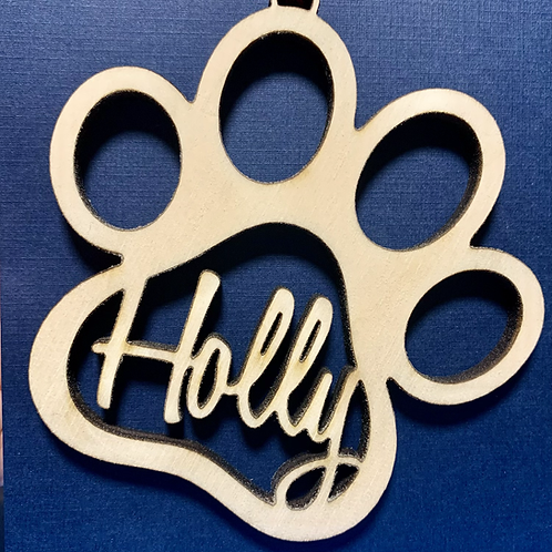 Personalized Paw Ornaments