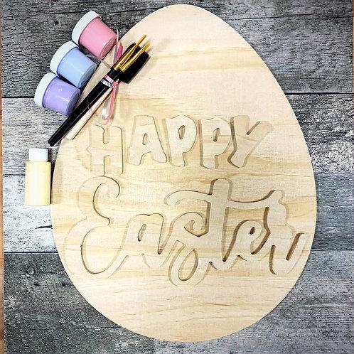 DIY Happy Easter Egg sign