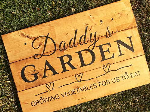 Customized Garden Pallet Sign