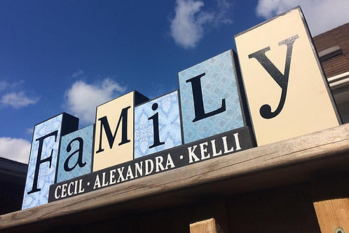 Personalized Family Block set