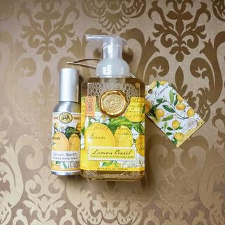 Lemon Basil Hand Soap & Room Spray Set