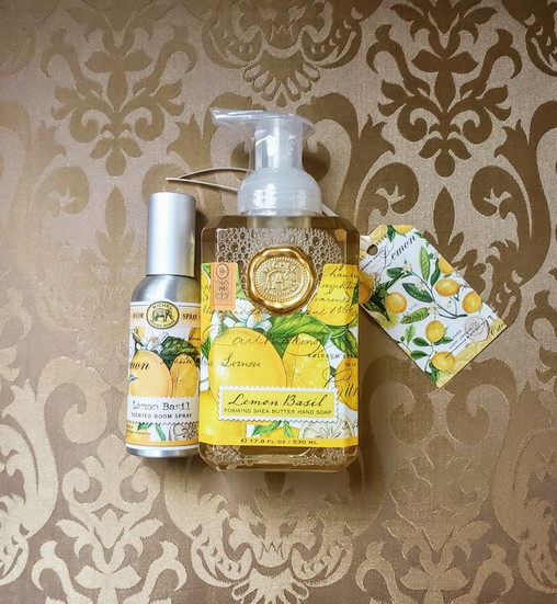 Lemon Basil Hand Soap & Room Spray Set