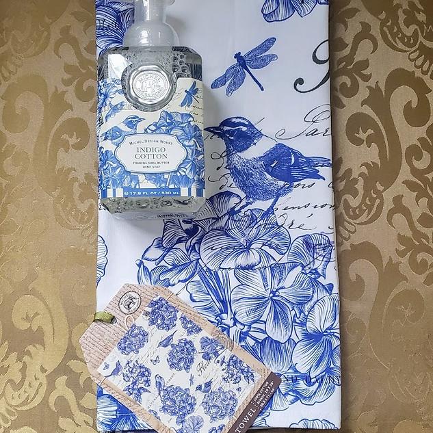 Indigo Cotton in the Kitchen Gift Set