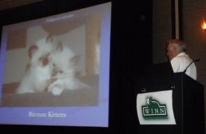 Dr. Niels Pedersen speaks at the Winn Feline Foundation Symposium on FIP
