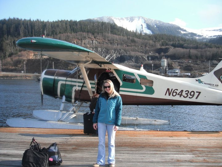 Taking a float plane to Prince William Island for work