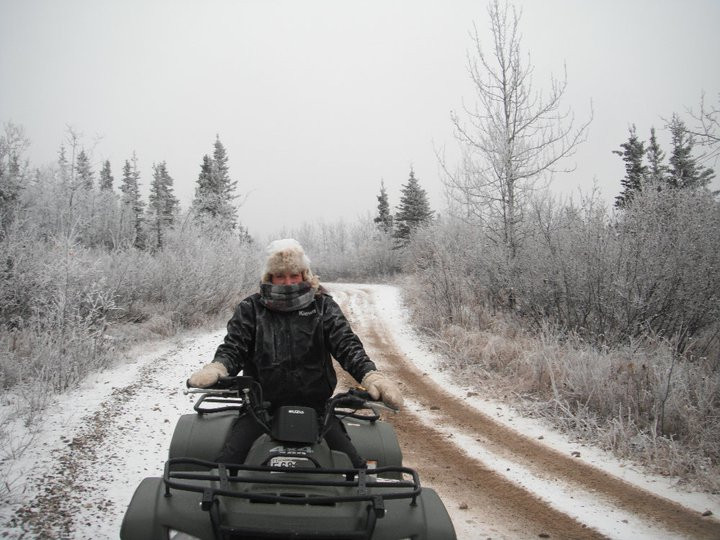 Four wheeling outside of Fairbanks for work.
