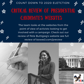 Review of Tulsi Gabbard's campaign website