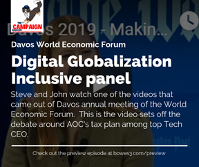 Digital Globalization Inclusive panel at Davos World Economic Forum Meeting