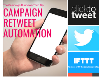 Automate retweeting of political tweets.