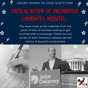 Review of John Delaney's campaign website