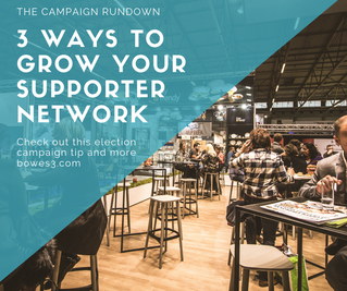Three ways to grow your supporter network