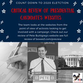 Review of Feature Pete Buttigieg 's campaign website
