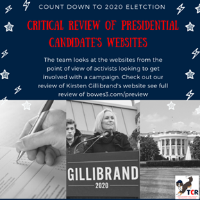 Review of Kirsten Gillibrand's campaign website