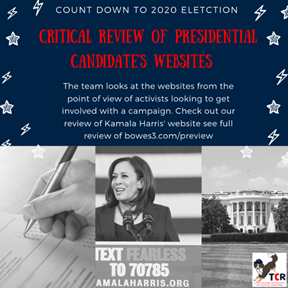Review of Kamala Harris' campaign website