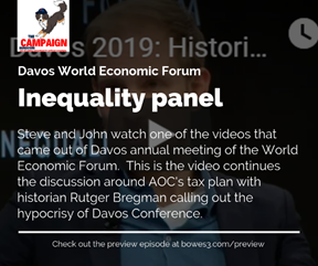 Inequality Becomes Discussion at Davos