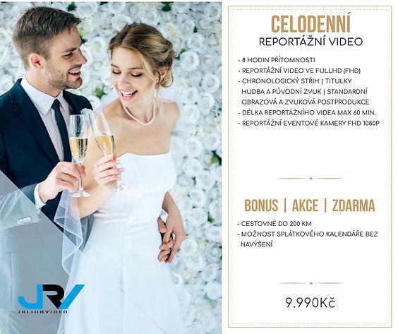Svatební ceník JRV - reportážní video - celodenní