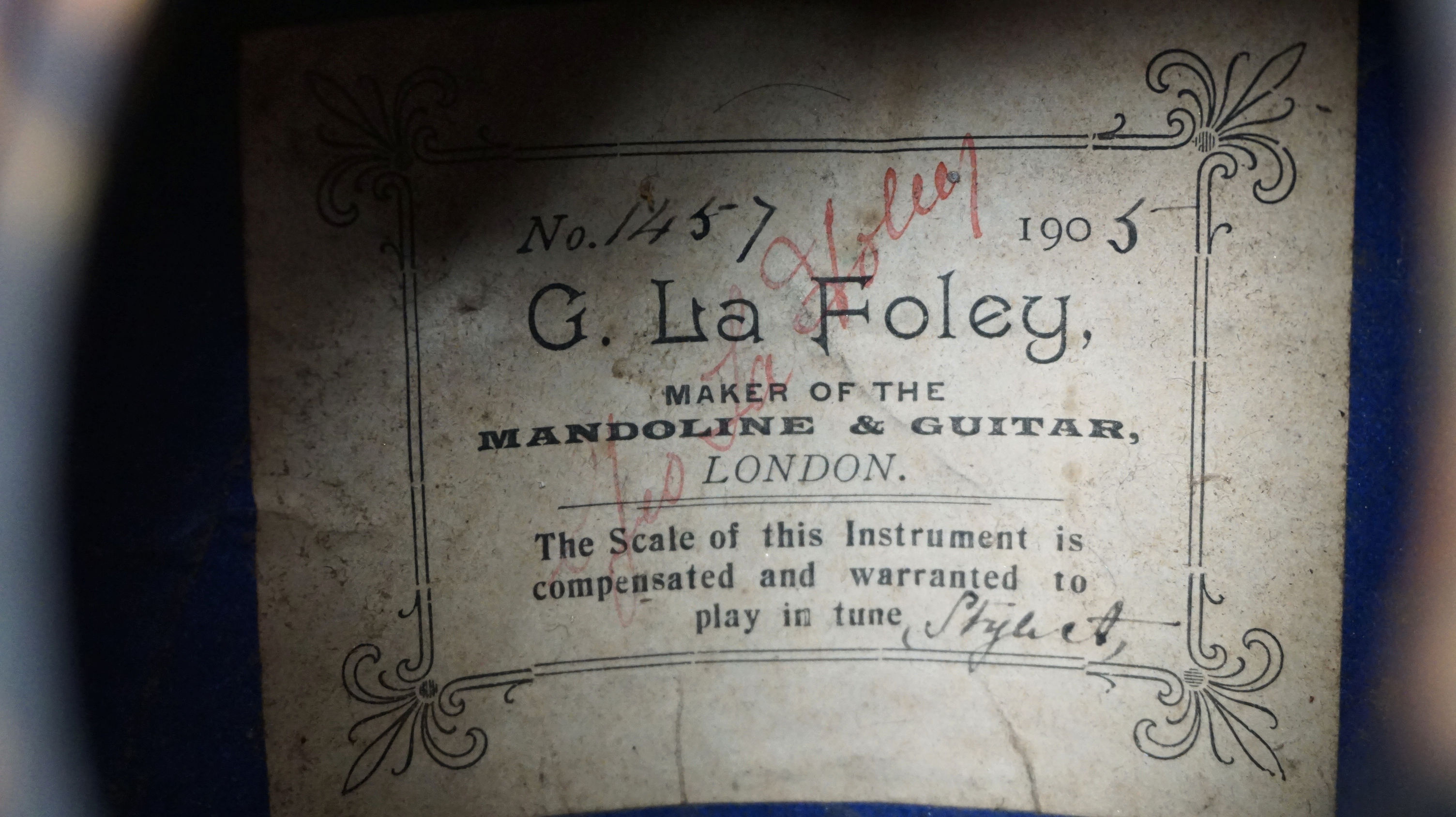 La Foley Mandolin label