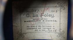 La Foley Mandolin label