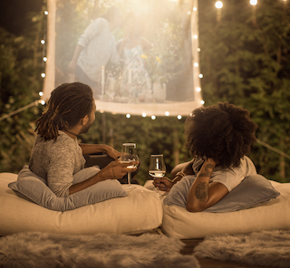 Watch a slideshow of all your special moments on a home movie projector.