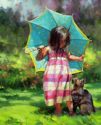 The Teal Umbrella by Steve Henderson