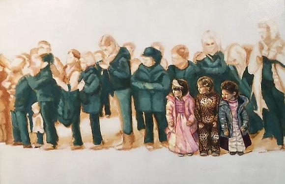 パレードを待つ子供たち