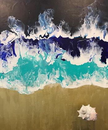 Fluid Painting Sanded Beach - 清田晴美