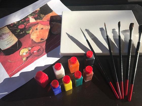 アクリル画 体験セット(画材)