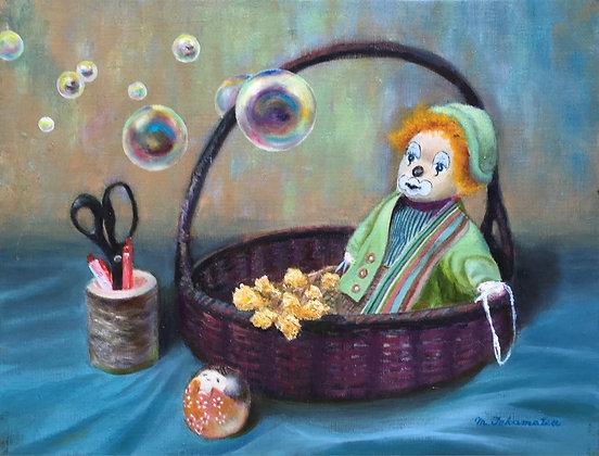 人形とシャボン玉 - 高松典雄
