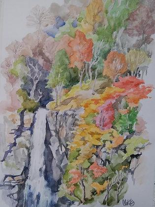 Autumn Waterfall -    杉本真喜子