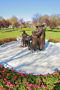 Nellie McClung Monument at the Manit