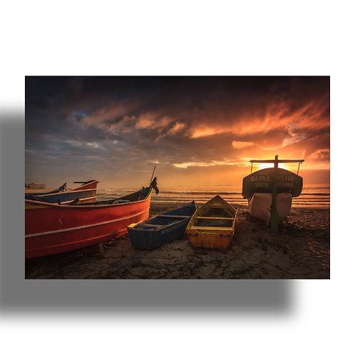 Impressão Fine Art ( Cod.: IMG_2757) - Barcos ao amanhecer