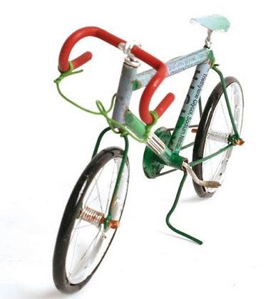 Recylced Tin-can Racing Bike