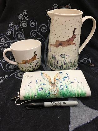 Hare mug, jug & Wallet
