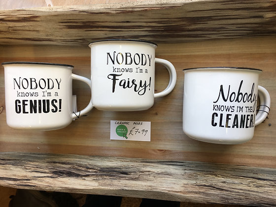 Nobody knows... mugs