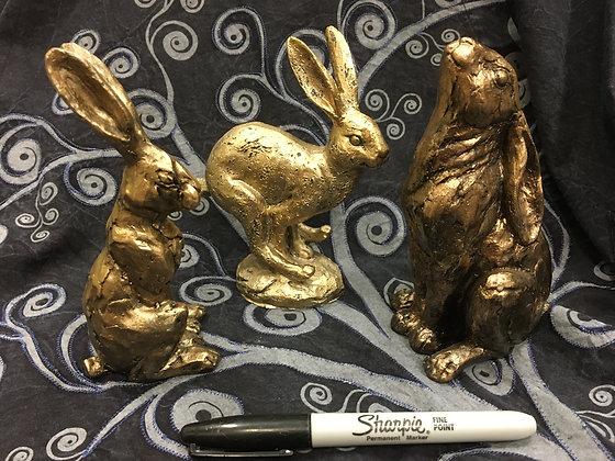 Bronze efect Hares.