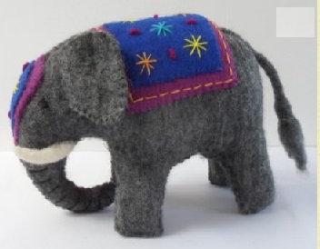 Small Felt Elephant