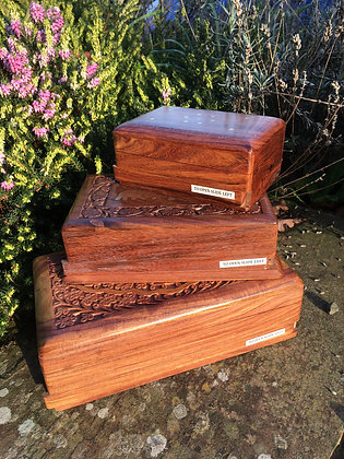 Wooden slide lock boxes